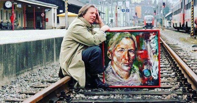 Gazmend Freitag – Kunst auf Schienen! Linz