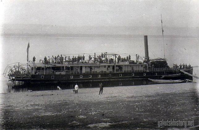 Пассажирский пароход на Лене. Снимок Йохельсона