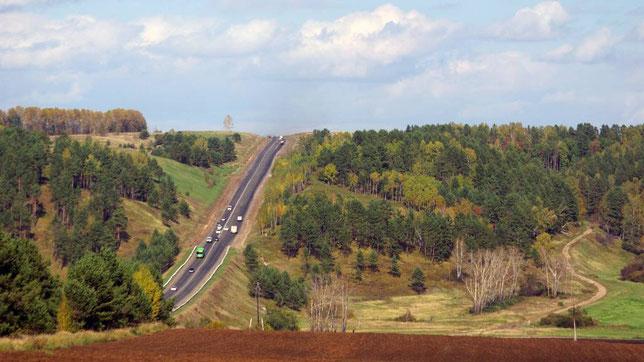 Автодорога Иркутск-Манзурка- Качуг-Бирюлька. Фото Алексея Зуева