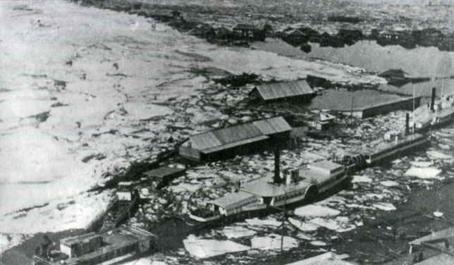 Киренск. Ледоход 1915 г.