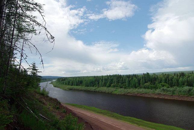 Река Нижняя Тунгуска. Фото Алексея Зуева