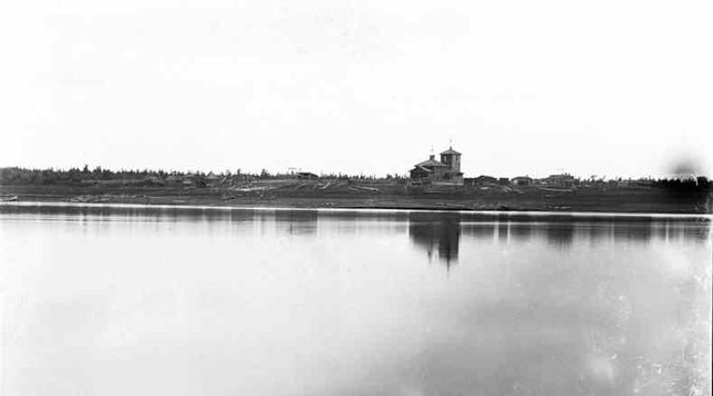 Вид г. Верхнеколымска. Снимок В.Иохельсона