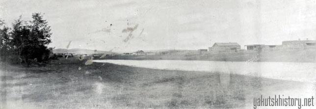 Вид на Верхоянск со стороны реки