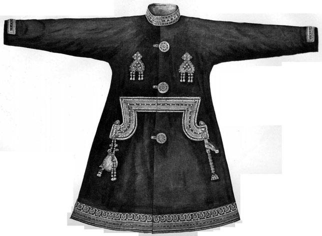 Рис. 17. Могила № 1. Одежда с бисерной вышивкой.