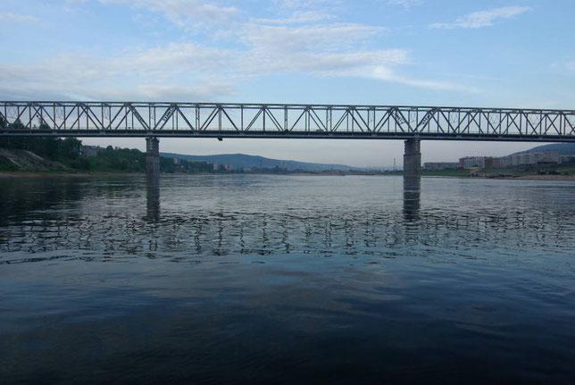 Единственный на Лене железнодорожный мост в Усть-Куте. Фото Алексея Зуева