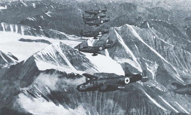 Перелет над Верхоянским хребтом по трассе АЛСИБ.