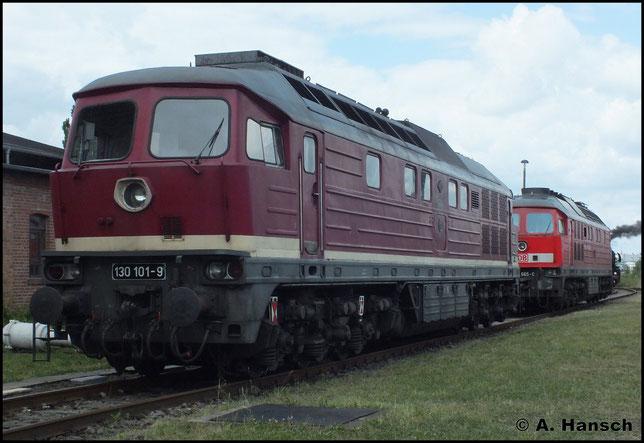 Am 2. Juni 2012 steht 130 101-9 im Bw Staßfurt