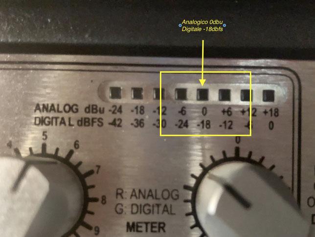 dbx meter analogico e digitale