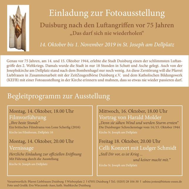 """Flyer """"Einladung zur Fotoausstellung"""""""
