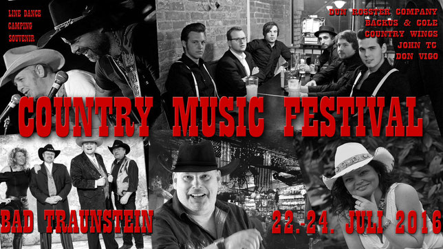 Bands die in Bad Traunstein beim Countryfest spielen.