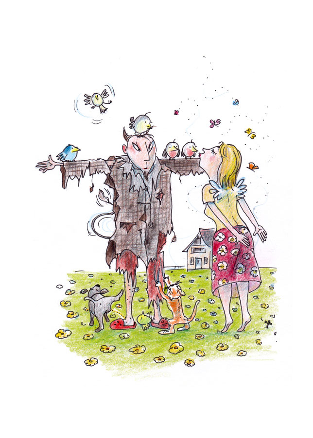 Buchillustration,schelmisch,Kinderbuch,Karikaturen,lebensfroh,lustig,witzig