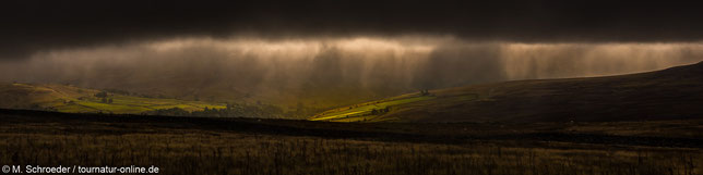 düsteres Hochland der Yorkshire Dales