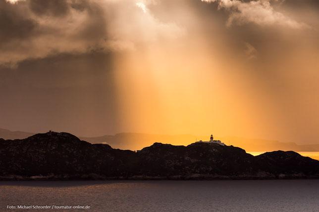 Leuchtturm von Rona bei Sonnenuntergang
