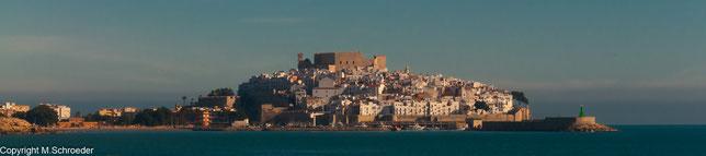 Blick auf  die Altstadt von Peníscola