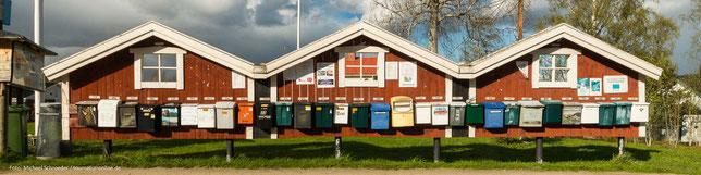 schwedische Briefkästen
