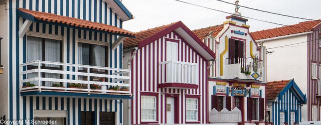 Costa Nova Streifenhäuser gestreifte Häuser