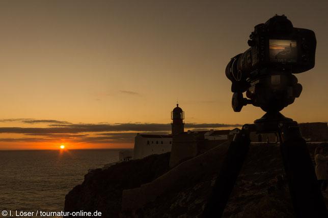 Sonnenuntergang am Cabo de São Vicente