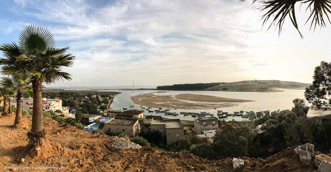 Blick über die Lagune von Moulay Buesselham