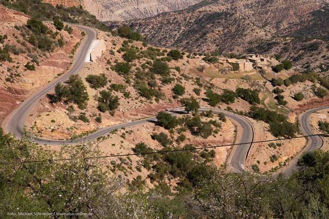 Serpentinen auf dem Weg zum Paradise Valley