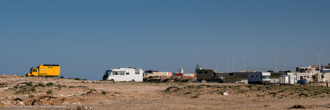 Moulay Bouzerktoun - Stellplatz am Strand