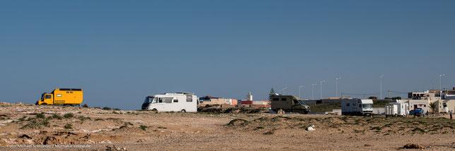 Moulay Bouzerktoun - Wohnmobil-Stellplatz am Strand