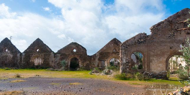 historischer Bergbauort Mina de São Domingos