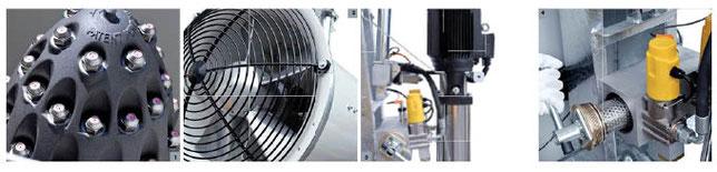 Detailbilder zur Staubbindemaschine V12