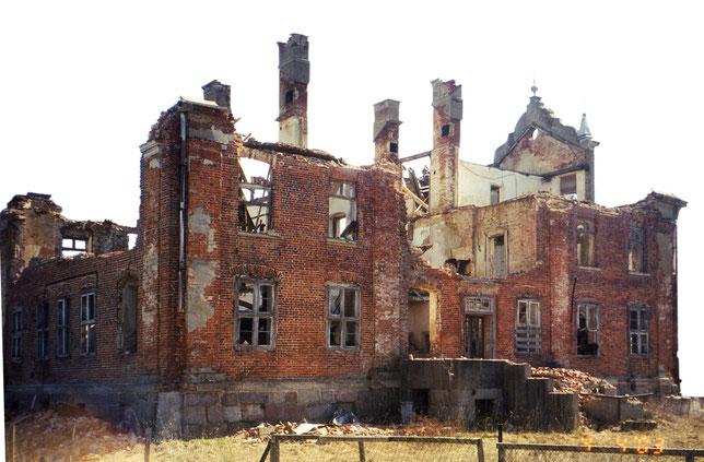 Die Ruine des Hauses im Jahr 2003.