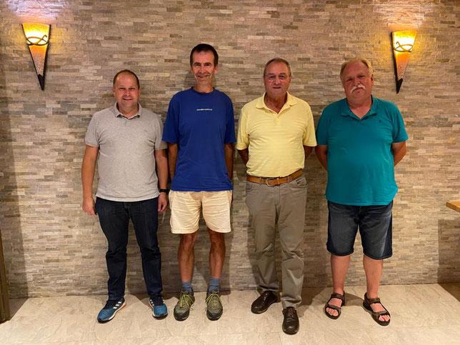 von links: Manfred Klein, Rainer Walter, Dr. Jürgen Laucher und Karl-Heinz Müller