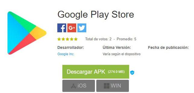 Última Versión Google Play Store