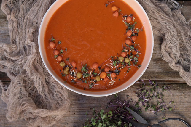 Tomatenlinsensuppe