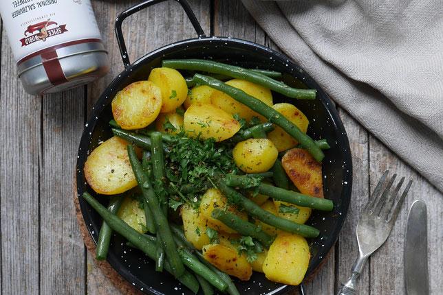 Fisolen-Kartoffelpfanne