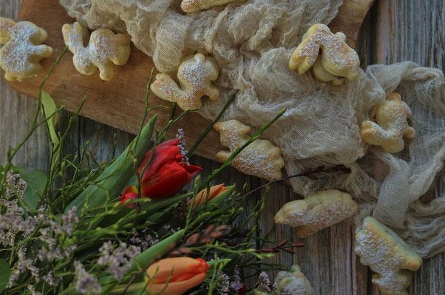 Blätterteighäschen mit Schokocreme