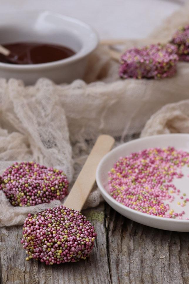 Schokoladenbanane am Stiel