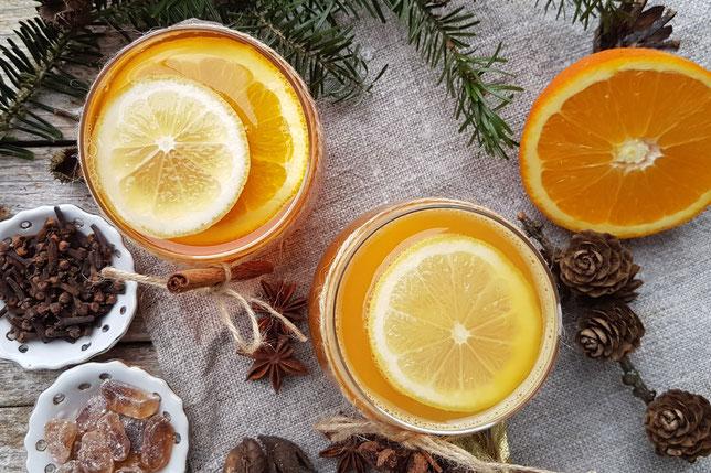 Orangenpunsch ohne Alkohol