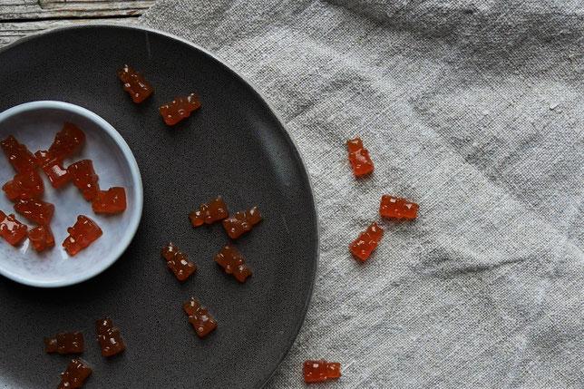 vegane Sanddronsirup Gummibärchen