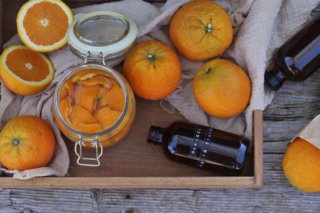 Ansatz für Orangen-Essigreiniger
