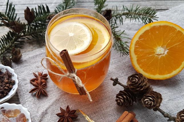 alkoholfreier Orangenpunsch