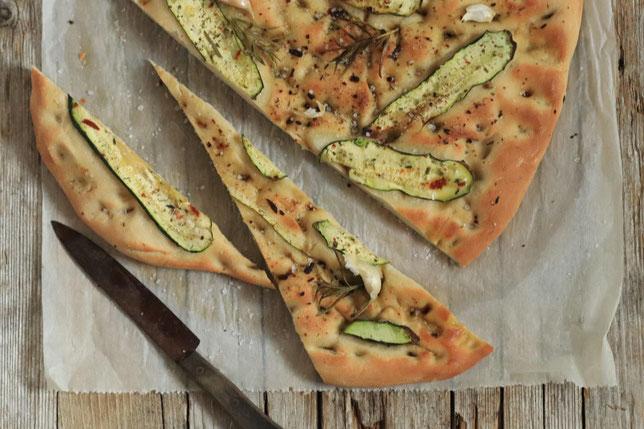 Focaccia mit Zucchini