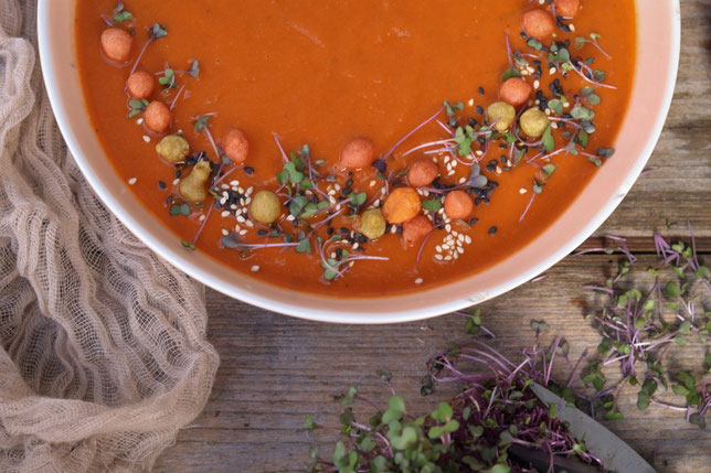 Tomaten Linsen Suppe