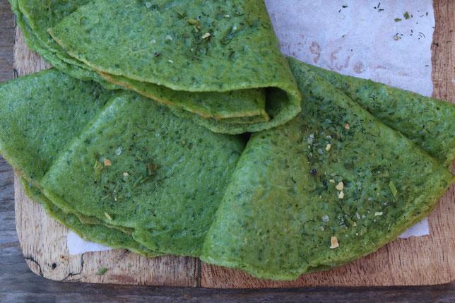 Palatschinken mit Spinat