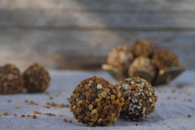 Blütenpollenrezept, Energyballs mit Blütenpollen