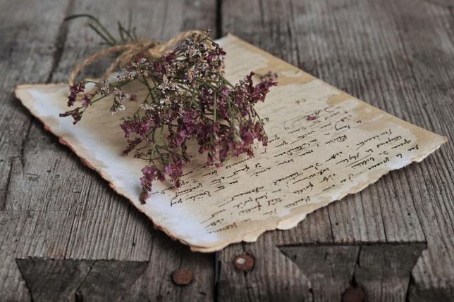 Blumen und Brief