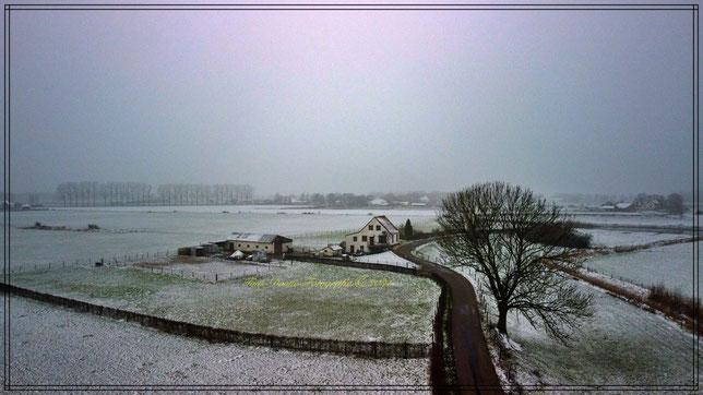 Kerkdijk. in de sneeuw. 17-01-2021