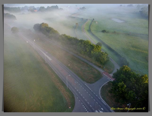 Mist kruising Thornsche molen Kerkdijk