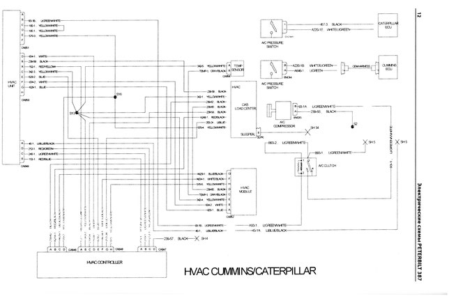 PETERBILT 387 HVAC wiring diagram