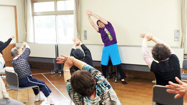 高齢者向け介護予防教室の様子