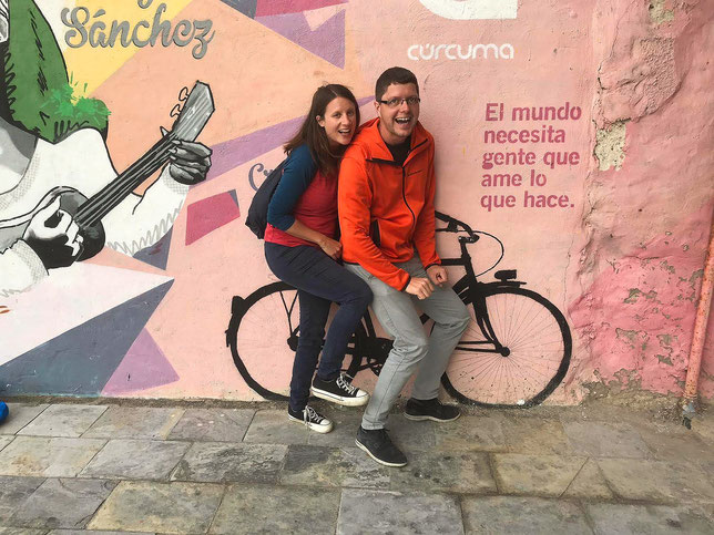 Radlerin in Las Palmas