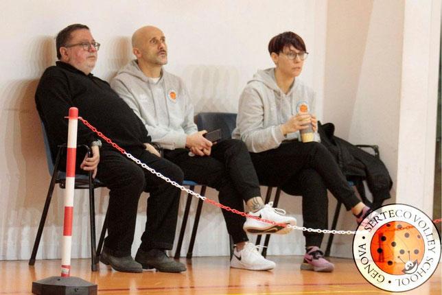 Il dott. Gianfranco Molisani assieme a coach Domenici e alla Team Manager Elena Rossi