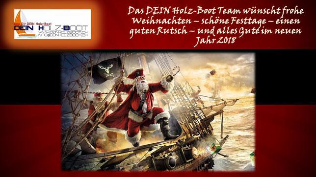 Weihnachtsgrüsse DEIN Holz-Boot Modellschiffe